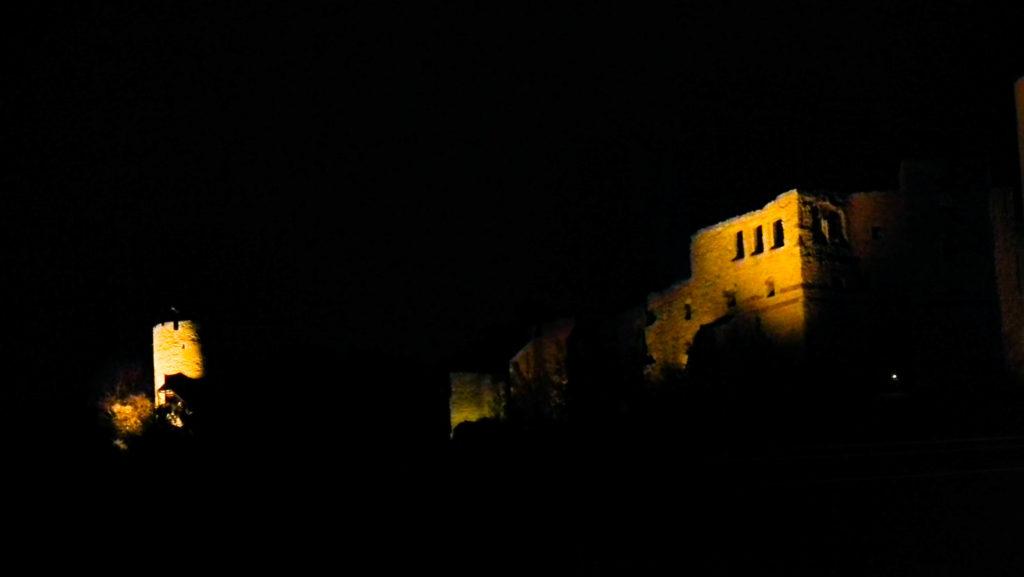 Kazimierz Dolny nocą, zamek