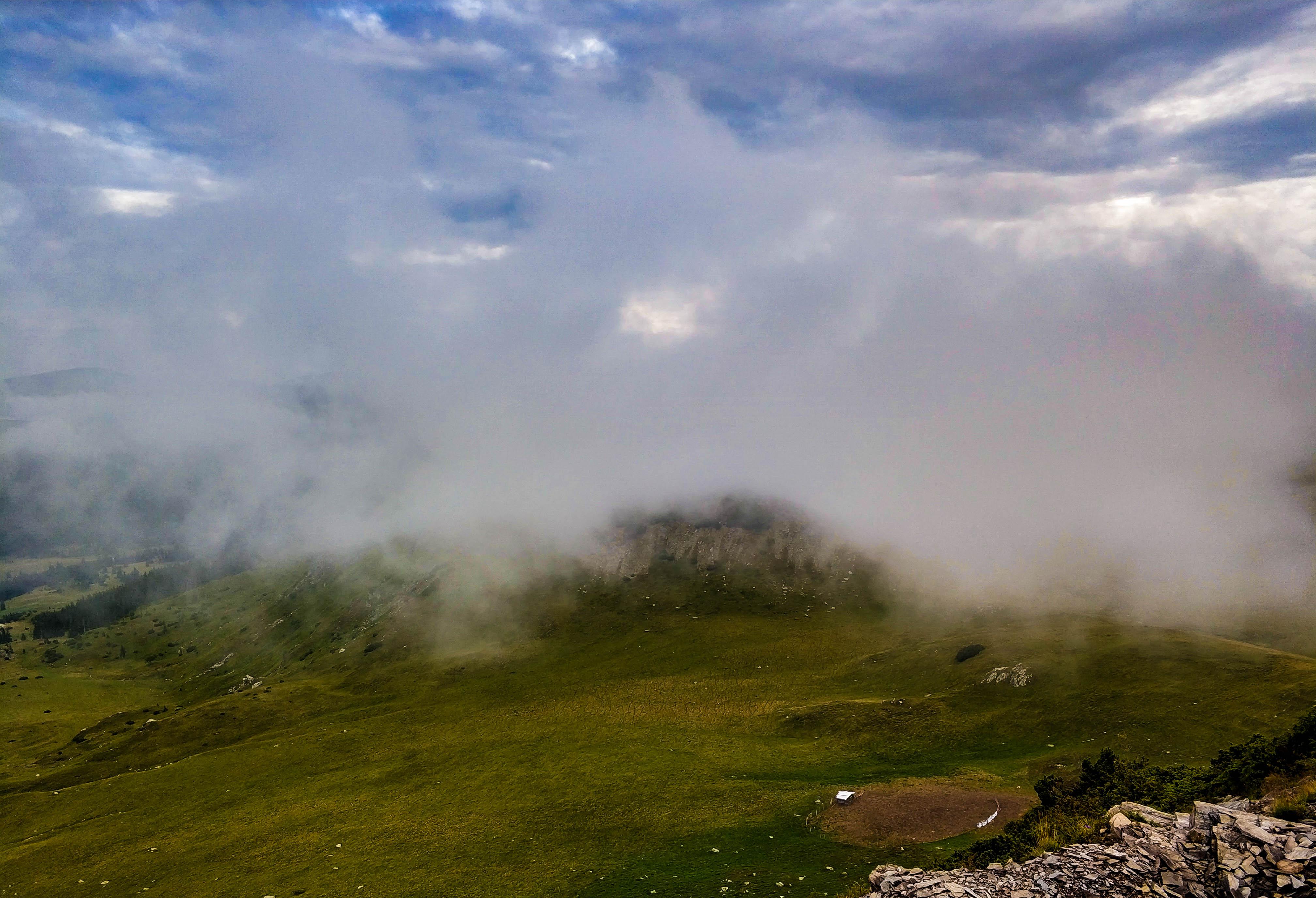 transalpina, chmury