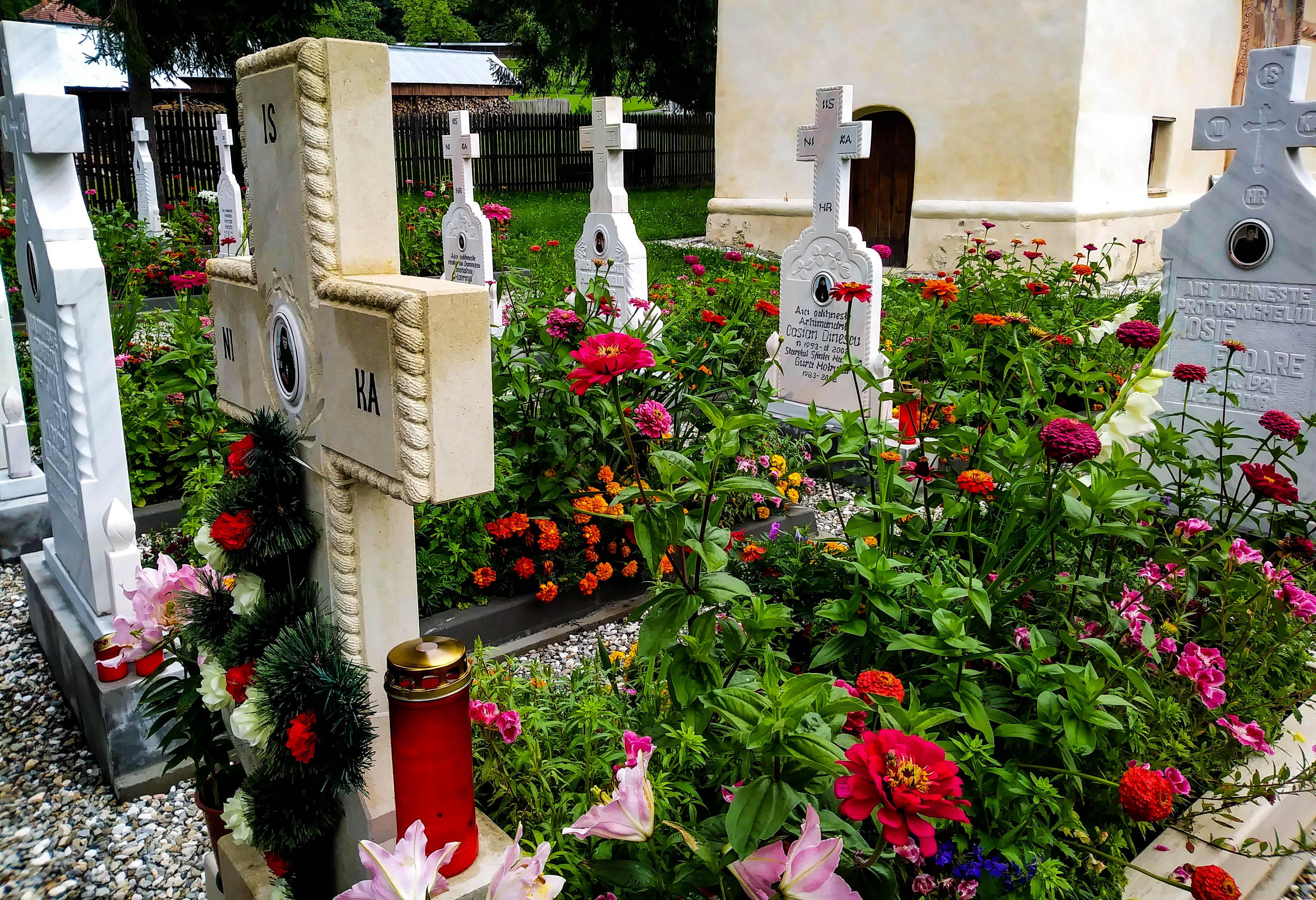 Rumunia, klasztor Polovragi, cmentarz