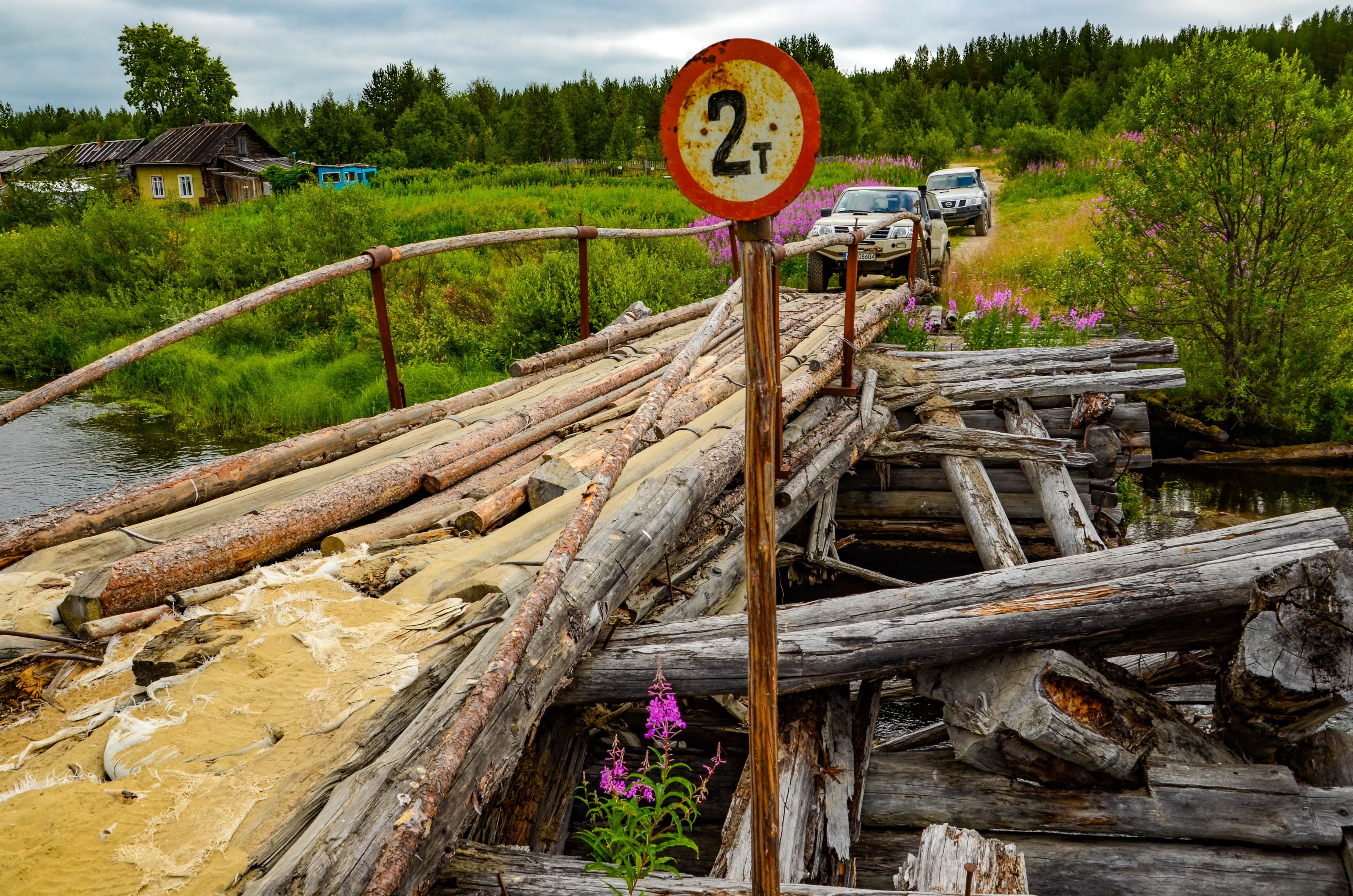 Rosja, Półwysep Kolski, tajga, off-road
