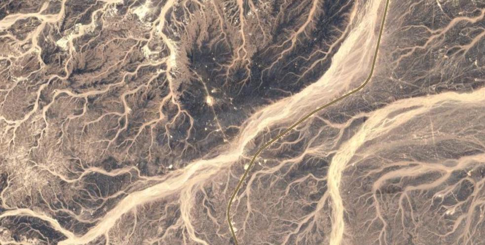 zdjęcie satelitarne pustyni