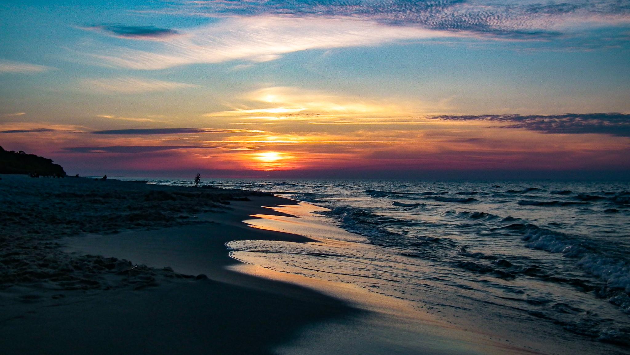 Zachody słońca na Mierzei Helskiej.