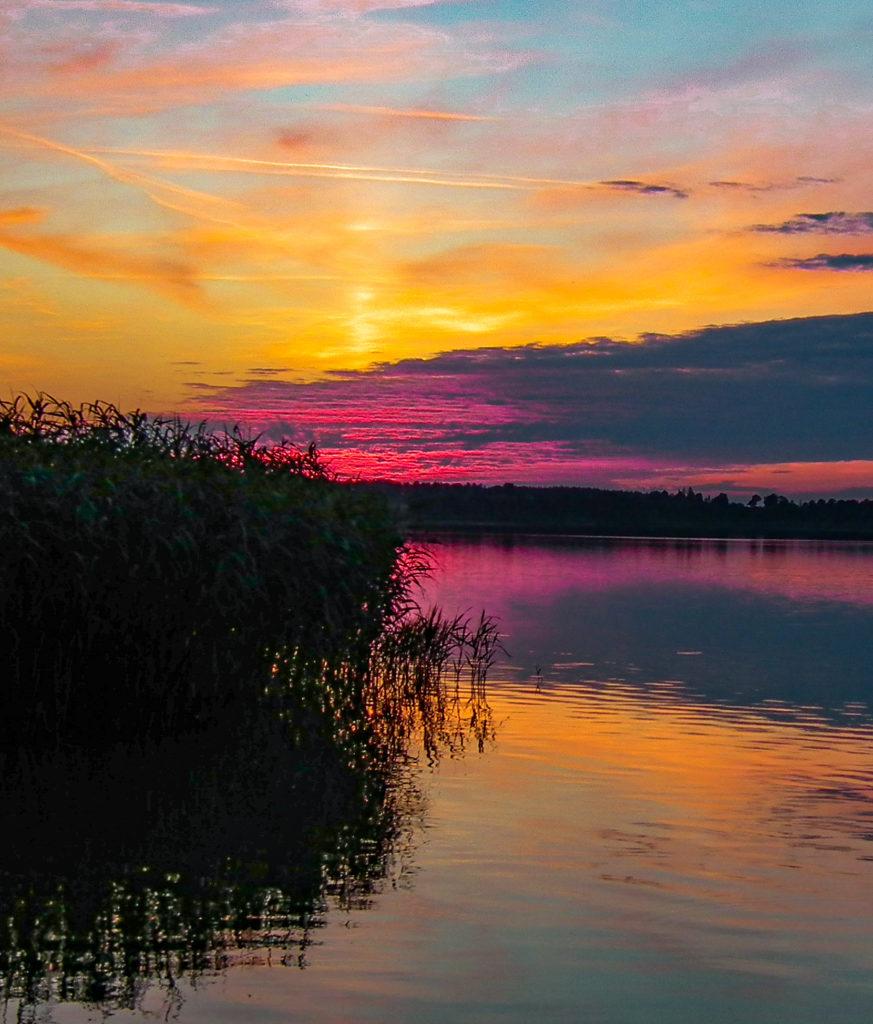 zachód słońca Jezioro Ewingi