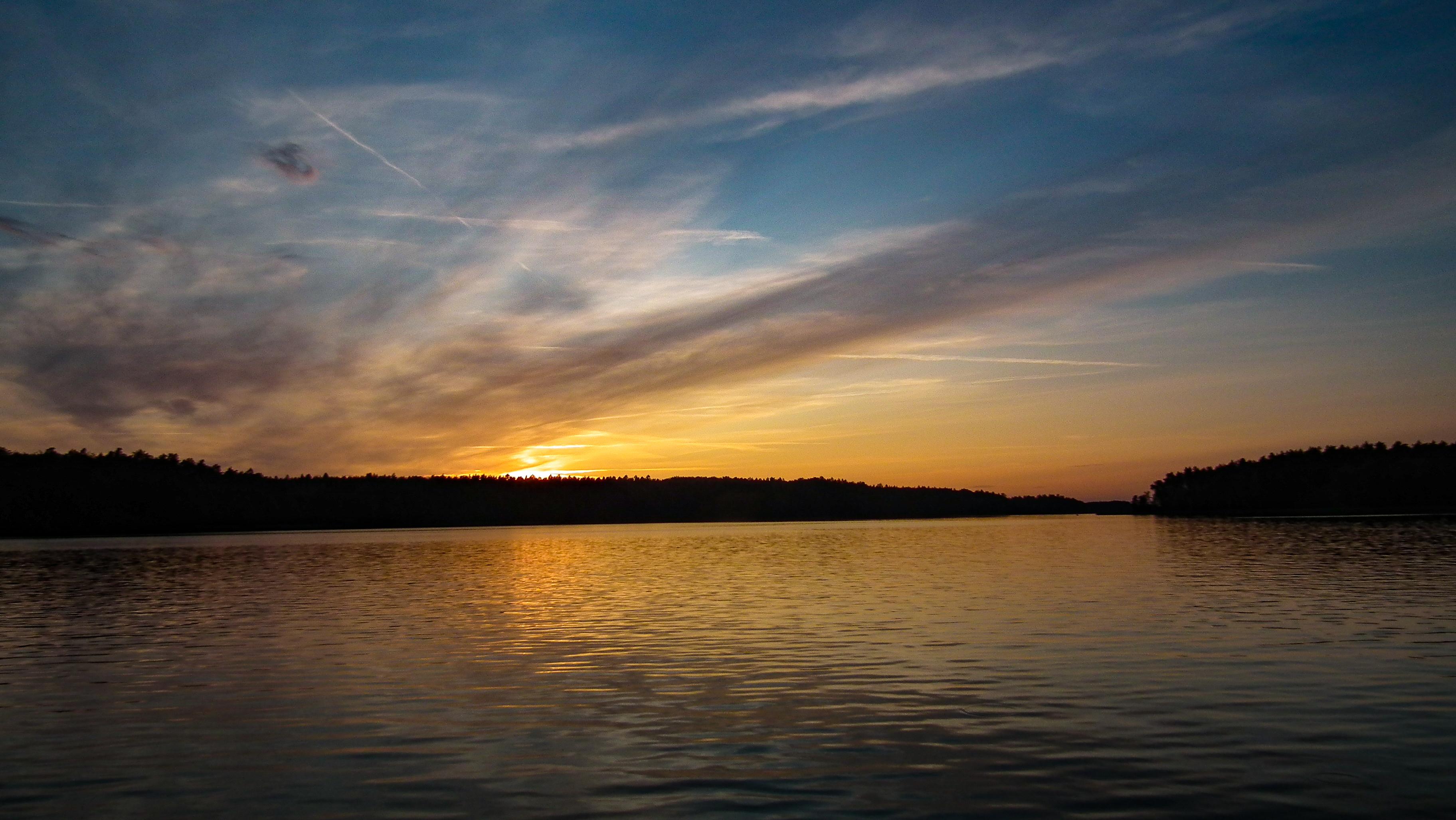 zachód słońca Jezioro Jeziorak