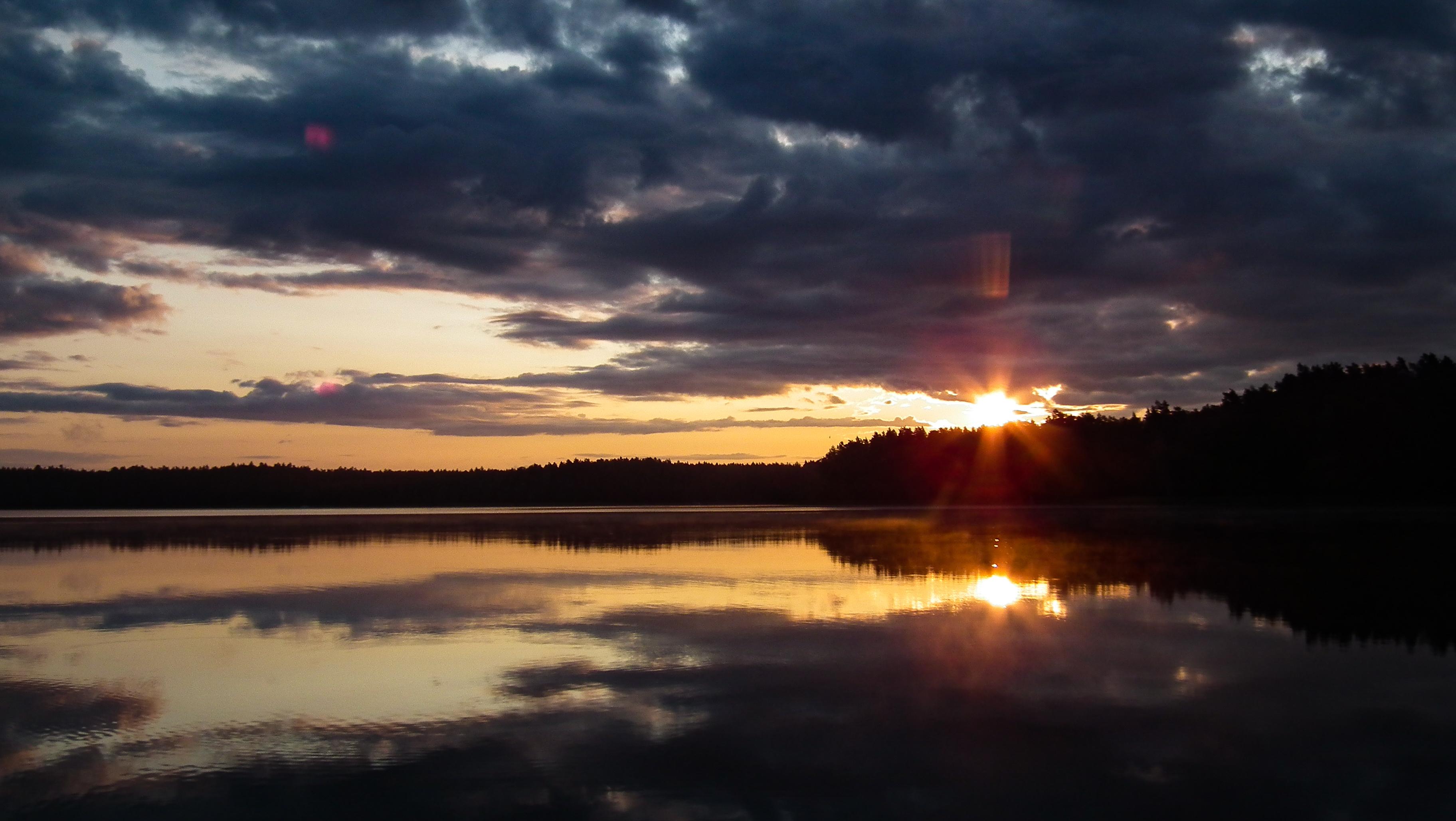 wschód słońca Jezioro Jeziorak