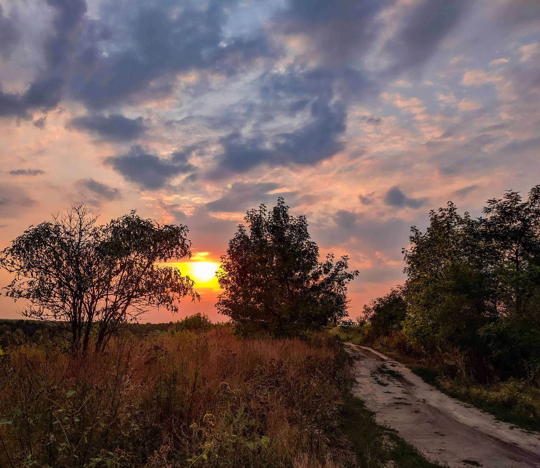 Marki zachód słońca
