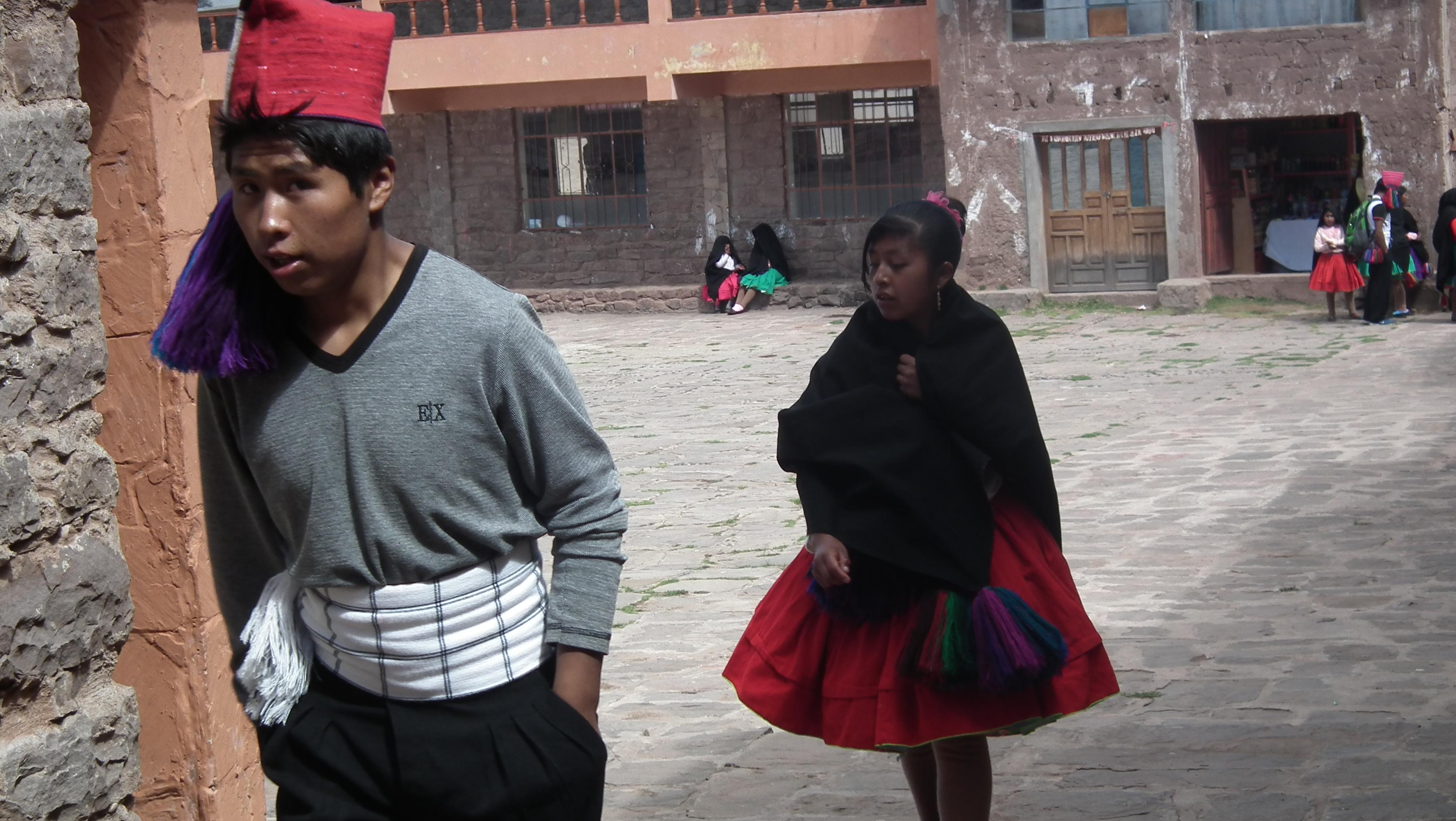 mieszkańcy Taquile
